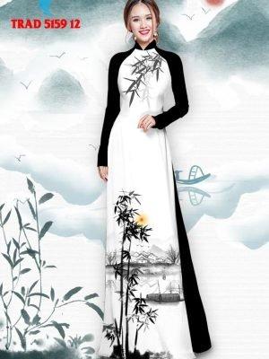 Vải áo dài hình cây tre trúc AD TRAD 5159 23