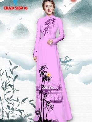 Vải áo dài hình cây tre trúc AD TRAD 5159 27