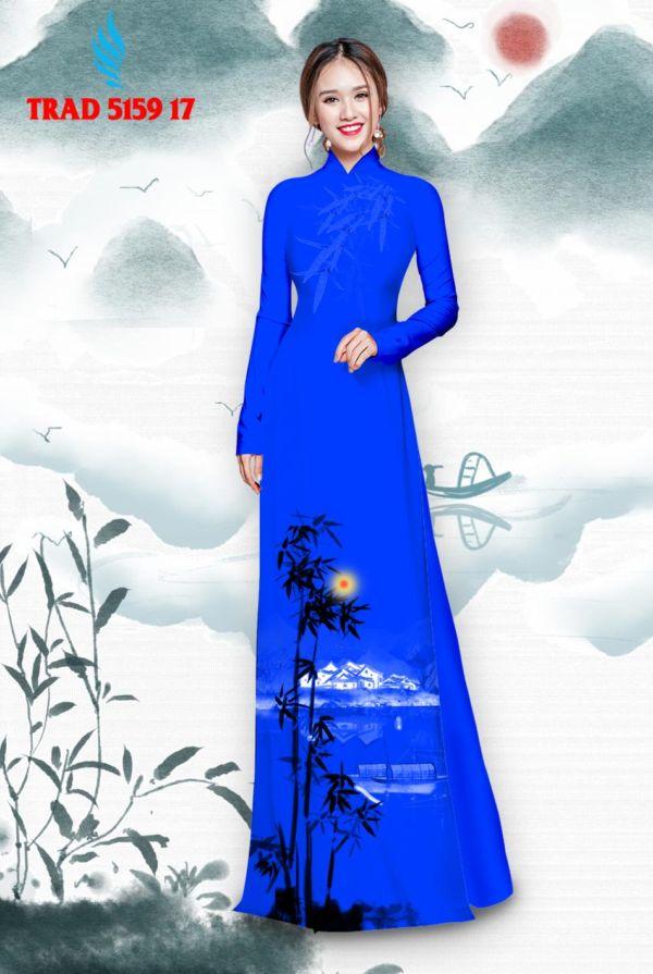 Vải áo dài hình cây tre trúc AD TRAD 5159 8