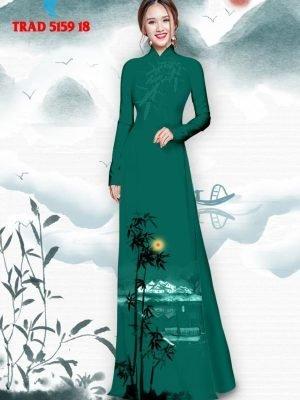 Vải áo dài hình cây tre trúc AD TRAD 5159 29