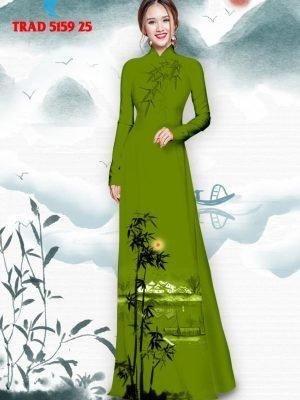 Vải áo dài hình cây tre trúc AD TRAD 5159 36