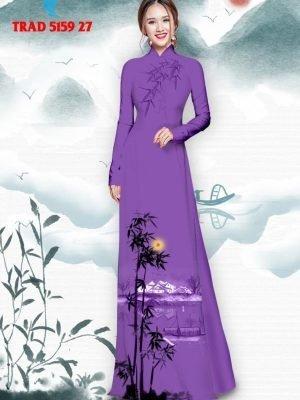 Vải áo dài hình cây tre trúc AD TRAD 5159 38