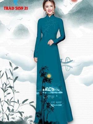 Vải áo dài hình cây tre trúc AD TRAD 5159 32