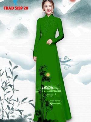 Vải áo dài hình cây tre trúc AD TRAD 5159 31