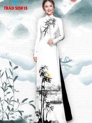 Vải áo dài hình cây tre trúc AD TRAD 5159 24
