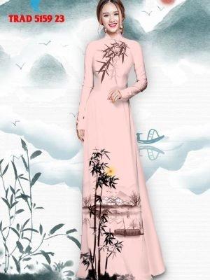 Vải áo dài hình cây tre trúc AD TRAD 5159 33