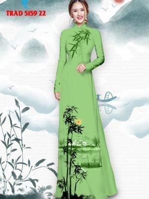 Vải áo dài hình cây tre trúc AD TRAD 5159 34