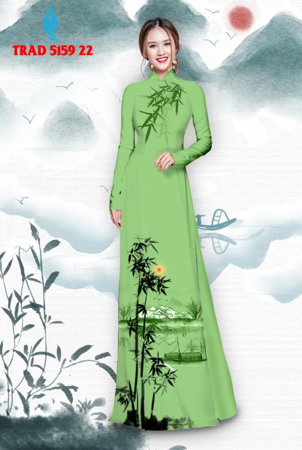 Vải áo dài hình cây tre trúc AD TRAD 5159 14