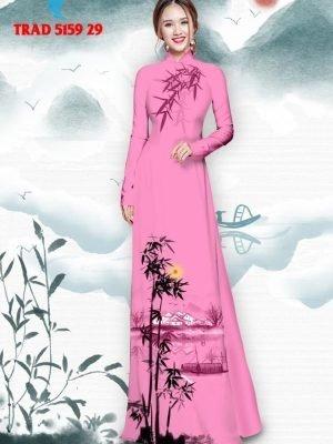 Vải áo dài hình cây tre trúc AD TRAD 5159 40