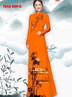 Vải áo dài hình cây tre trúc AD TRAD 5159 26