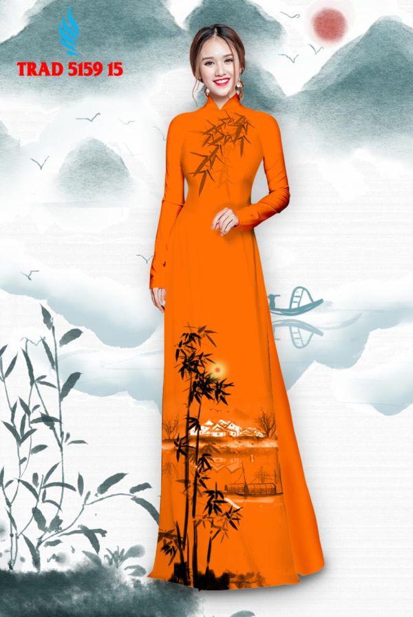 Vải áo dài hình cây tre trúc AD TRAD 5159 6