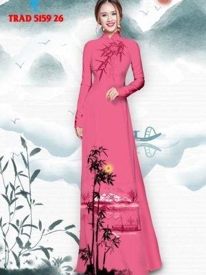 Vải áo dài hình cây tre trúc AD TRAD 5159 37