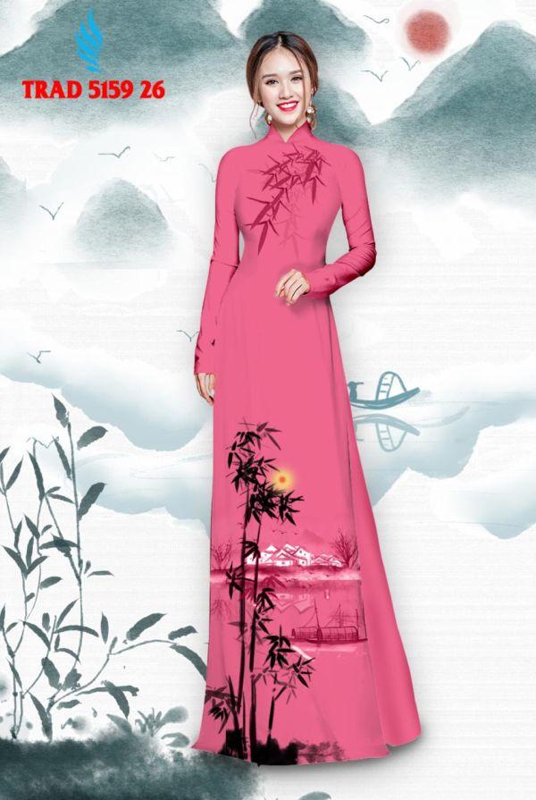 Vải áo dài hình cây tre trúc AD TRAD 5159 17