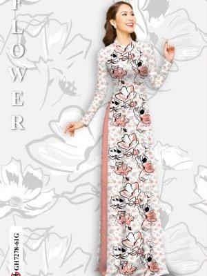 Vải áo dài hoa in 3D AD GH7278 28