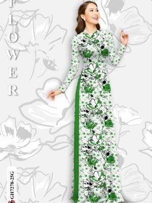 Vải áo dài hoa in 3D AD GH7278 22