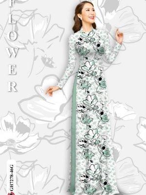 Vải áo dài hoa in 3D AD GH7278 27