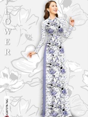 Vải áo dài hoa in 3D AD GH7278 29