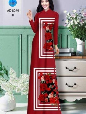Vải áo dài hoa hồng AD 8269 21