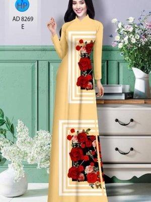 Vải áo dài hoa hồng AD 8269 20