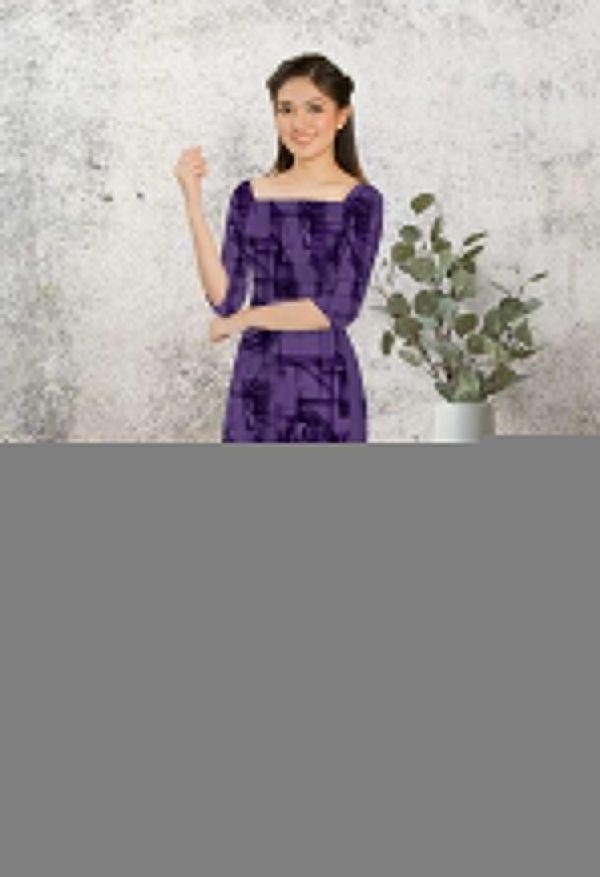 Vải áo dài hoa văn AD HT7279 8