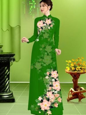 Vải áo dài hoa in 3D AD TRAD 5163 28