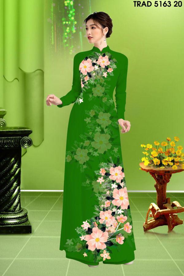 Vải áo dài hoa in 3D AD TRAD 5163 11