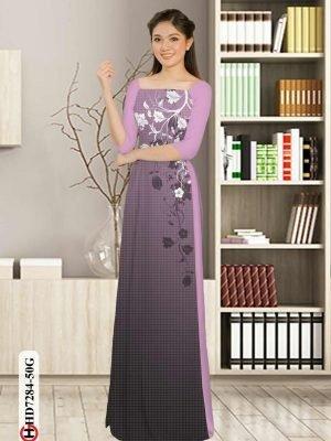 Vải áo dài hoa in 3D AD HD7284 24