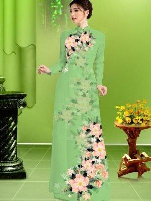 Vải áo dài hoa in 3D AD TRAD 5163 29