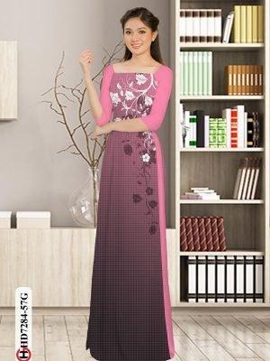 Vải áo dài hoa in 3D AD HD7284 25