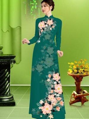Vải áo dài hoa in 3D AD TRAD 5163 25