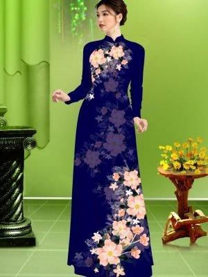 Vải áo dài hoa in 3D AD TRAD 5163 32