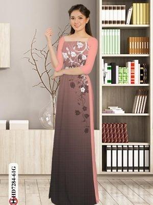 Vải áo dài hoa in 3D AD HD7284 27