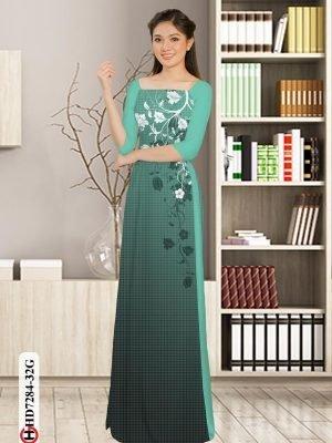 Vải áo dài hoa in 3D AD HD7284 19