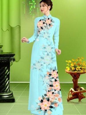 Vải áo dài hoa in 3D AD TRAD 5163 27