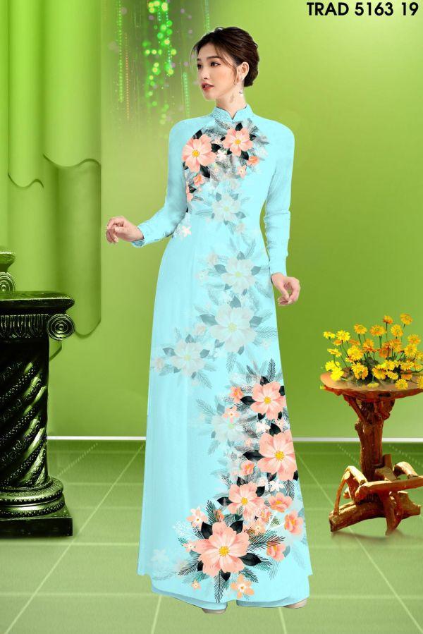 Vải áo dài hoa in 3D AD TRAD 5163 10