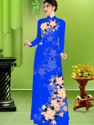 Vải áo dài hoa in 3D AD TRAD 5163 24