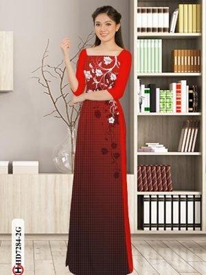 Vải áo dài hoa in 3D AD HD7284 16