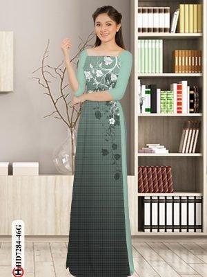 Vải áo dài hoa in 3D AD HD7284 23