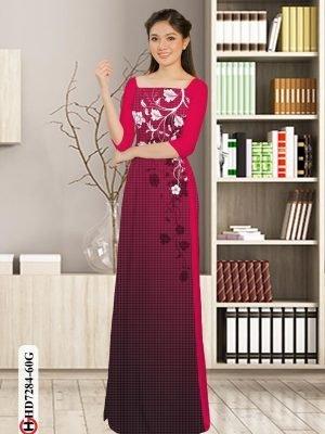 Vải áo dài hoa in 3D AD HD7284 26