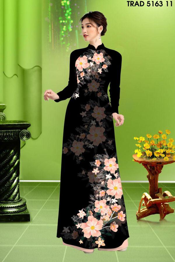 Vải áo dài hoa in 3D AD TRAD 5163 1