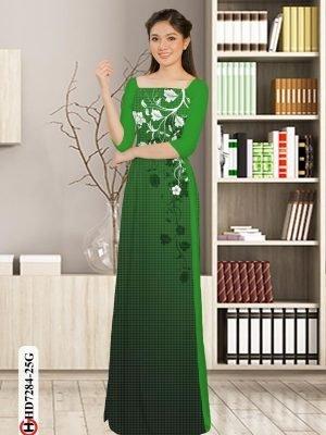 Vải áo dài hoa in 3D AD HD7284 18