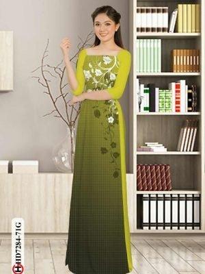 Vải áo dài hoa in 3D AD HD7284 28