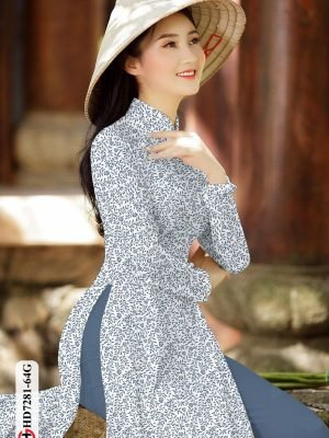 Vải áo dài hoa nhí AD HD7281 23