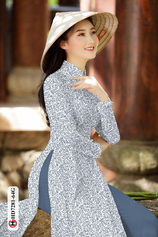 Vải áo dài hoa nhí AD HD7281 9