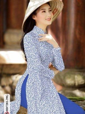 Vải áo dài hoa nhí AD HD7281 22