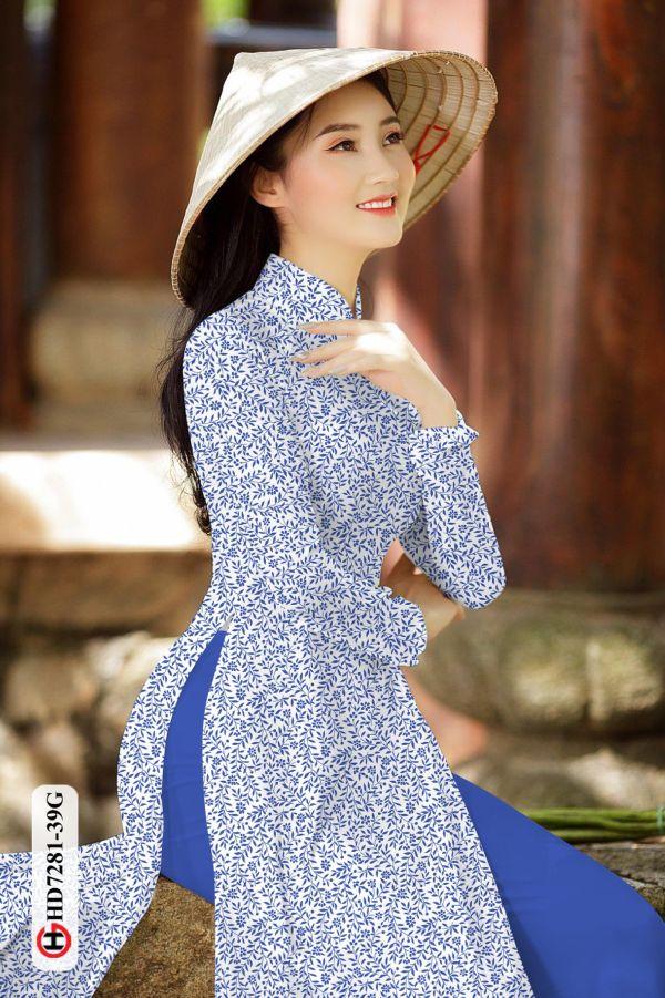 Vải áo dài hoa nhí AD HD7281 8