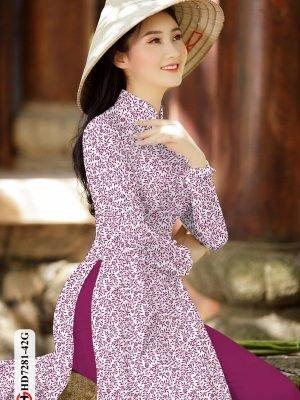 Vải áo dài hoa nhí AD HD7281 21