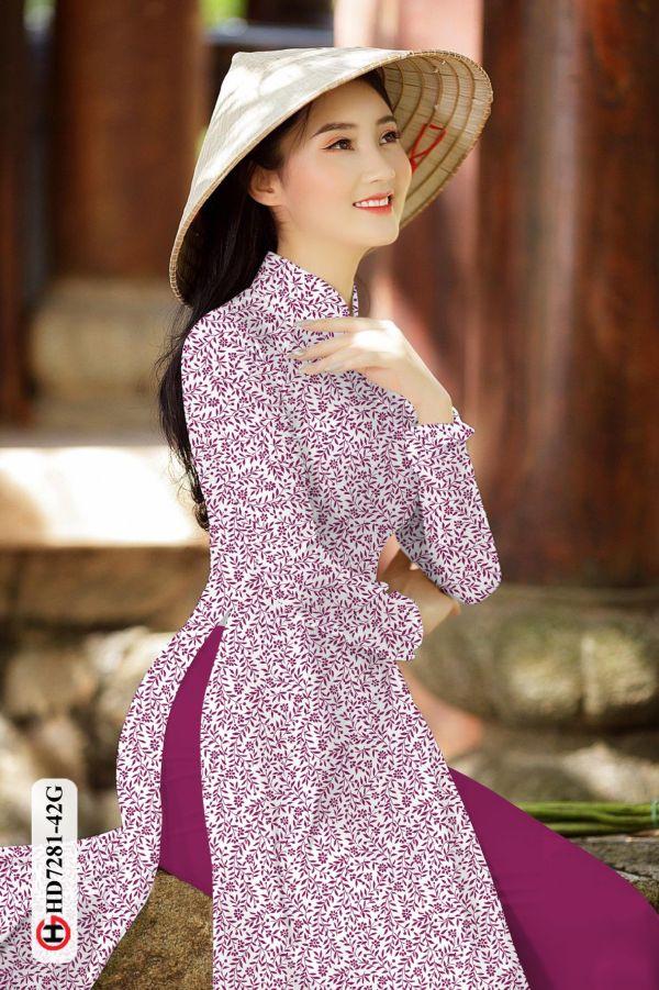 Vải áo dài hoa nhí AD HD7281 7