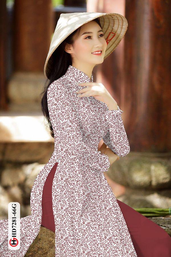 Vải áo dài hoa nhí AD HD7281 1