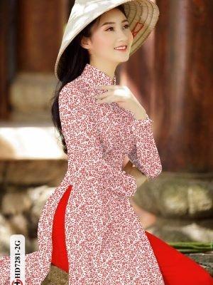 Vải áo dài hoa nhí AD HD7281 29